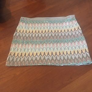 Sequined mini skirt by Express!